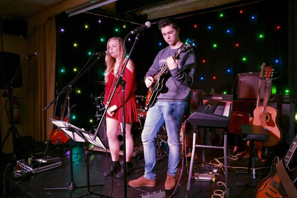James & Sophie - open mic night