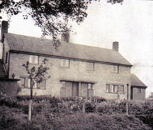 Priory Row Cottages 1956